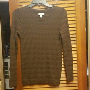 Kim Rogers sweater size small in brown
